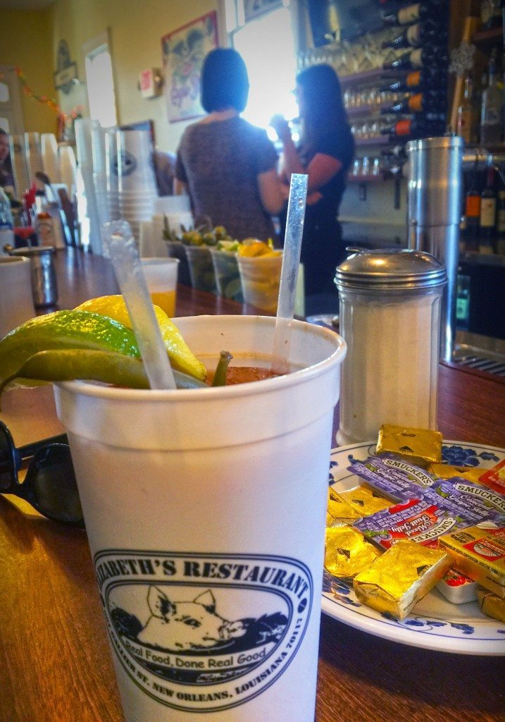 Titos Bloody Mary at Elizabeth's Restaurant New Orleans