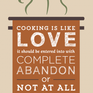 Cooking Is Like Love Harriet Van Horne Quote Design glutenfreesage