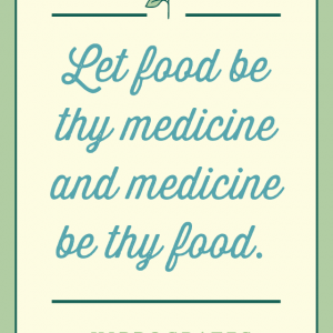 Let Food Be Thy Medicine Hippocrates Quote glutenfreesage