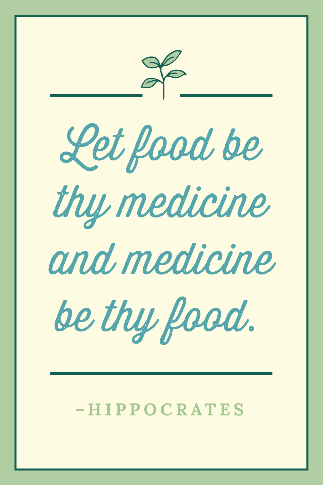 Let Food Be Thy Medicine Hippocrates Quote