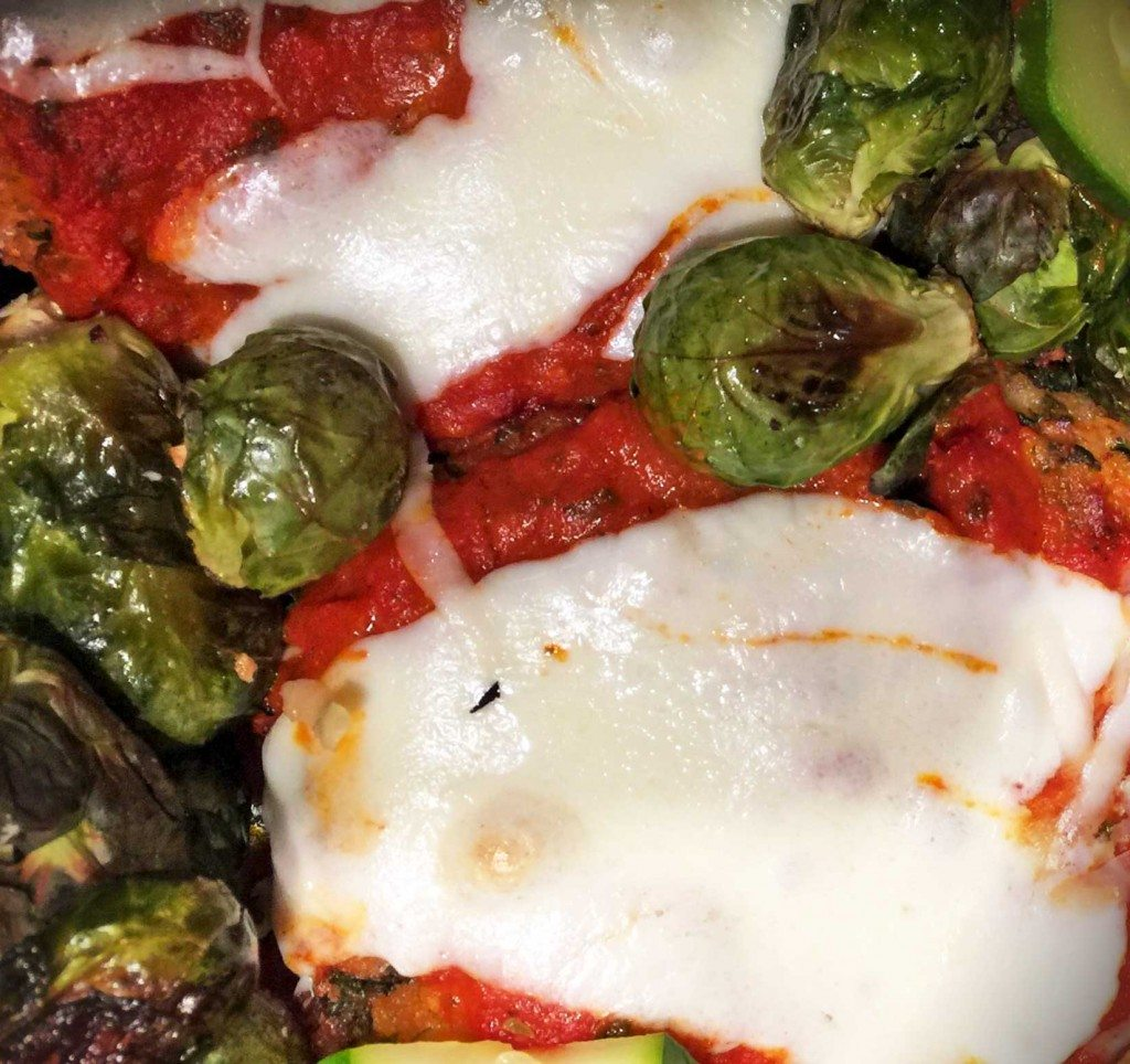 Chicken Parmesan with Brussels Sprouts and Zucchini Gluten Free Sage Lesson Relearned