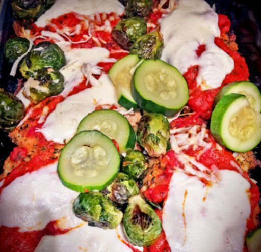 Chicken Parmesan with Brussels Sprouts and Zucchini Gluten Free Sage
