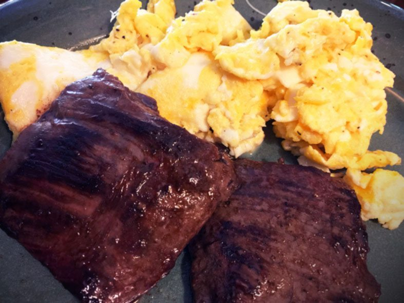 Lesson Relearned Glutenfreesage Doug's Recipe Skirt Steak Eggs Paleo No Carb