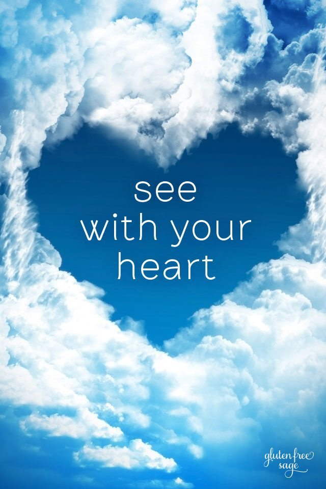 See With Your Heart Inspirational Quote iphone Wallpaper 640x960