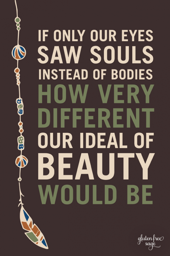 If Only Our Eyes Saw Souls Inspirational Quote Design 640 x 960 wallpaper glutenfreesage