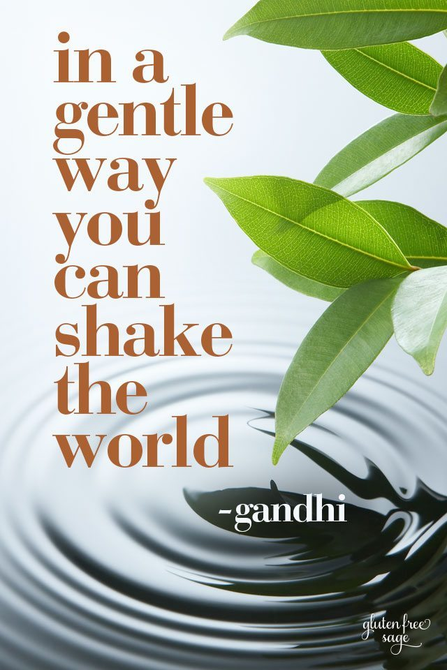 in a gentle way be the change gandhi quote inspiration