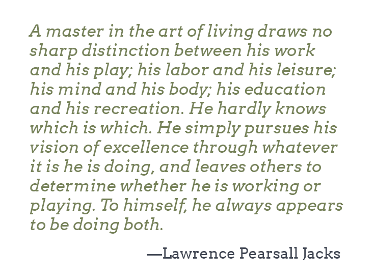striving for excellence pearsall jacks quote