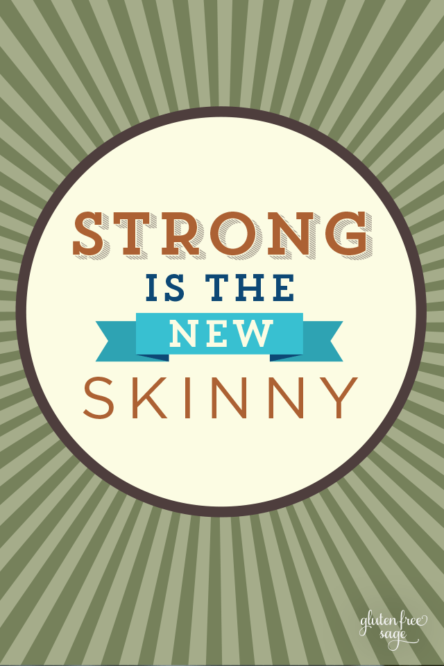 Strong is the New Skinny Inspirational Quote Design glutenfreesage 640 x 960 wallpaper