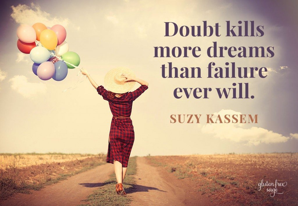 doubt and progress gluten free sage suzy kassem quote
