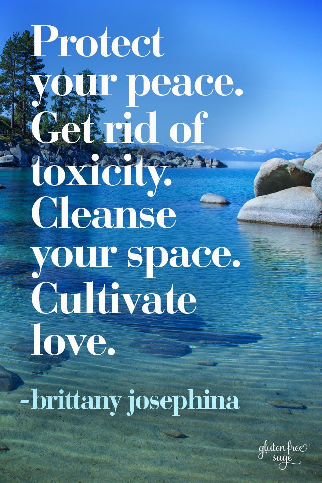 protect your peace spring cleaning toxicity love quote