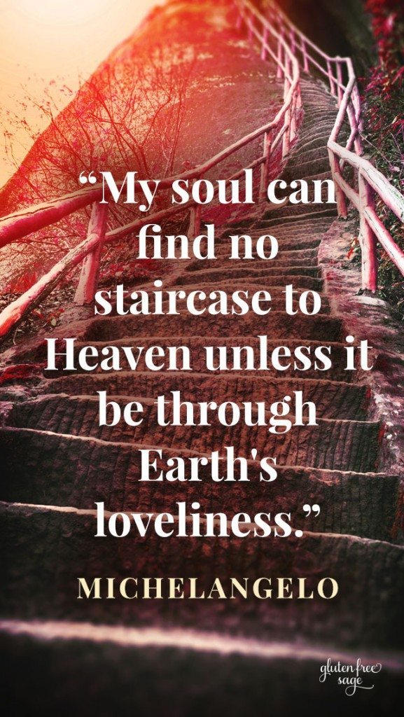 things get easier soul staircase earth's loveliness michelangelo quote design 640x1136