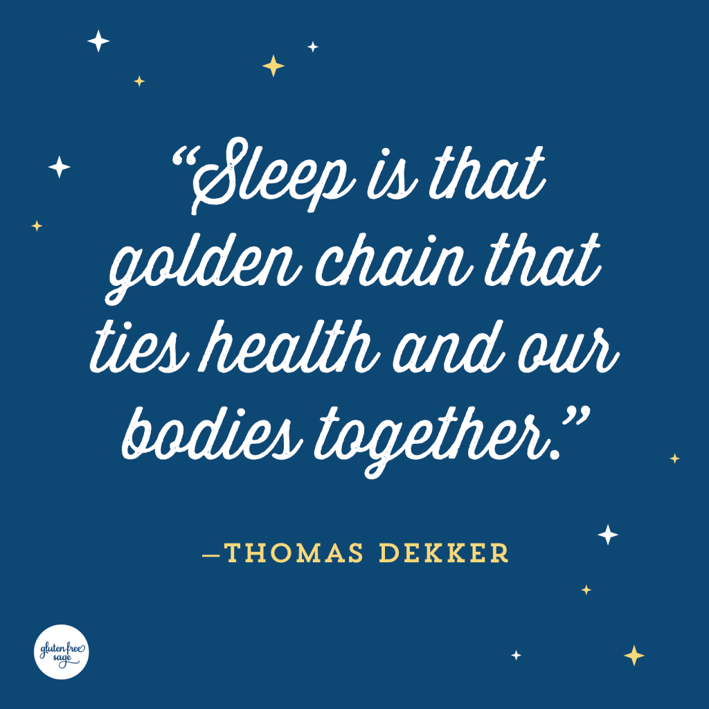 sleep better golden chain health quote thomas dekker