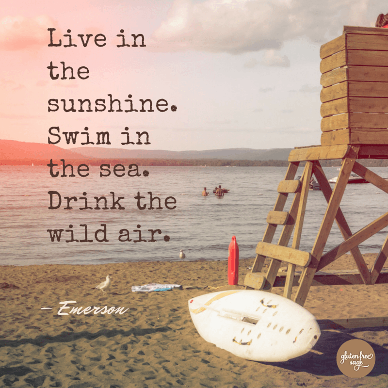 live in the sunshine swim in the sea emerson quote hello summer