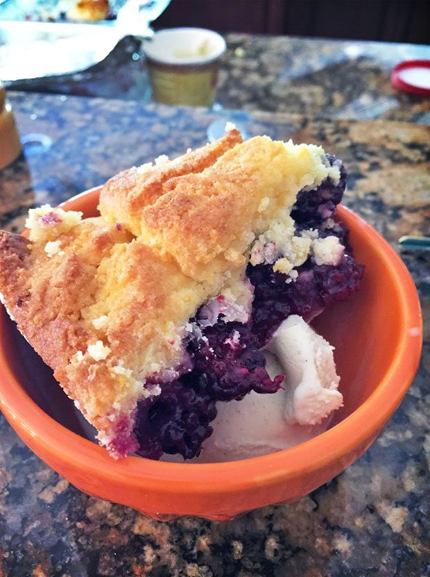 gluten free polenta blackberry cobbler recipe