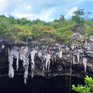 bahamas embrace blue hole stalactites man-o-war cay