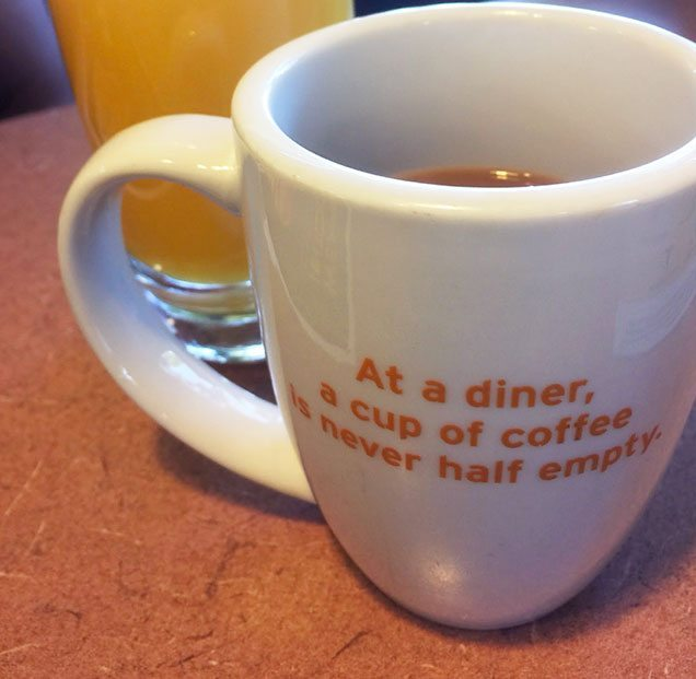 cup half full denny's coffee food memories gluten free menu