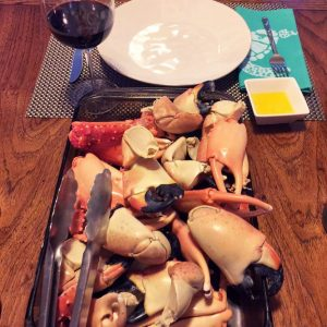 bahamas embrace gluten free stone crab dinner by nancy man-o-war cay