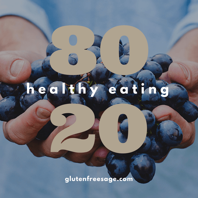 80-20 rule gluten free eating healthy