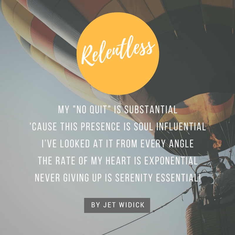 importance of being relentless poem by jet widick gluten free sage