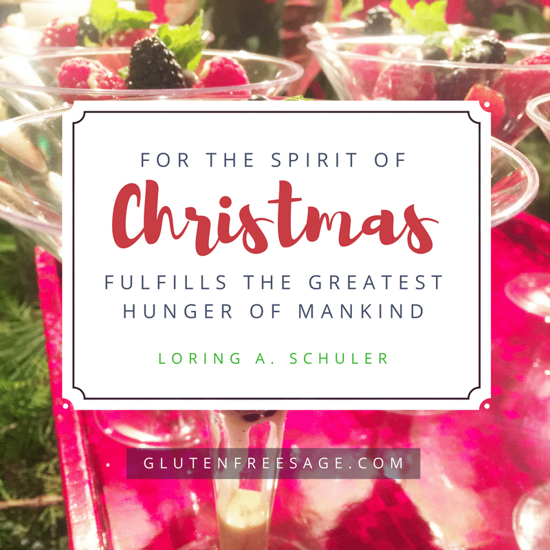 gluten free holiday spirits loring schuler quote