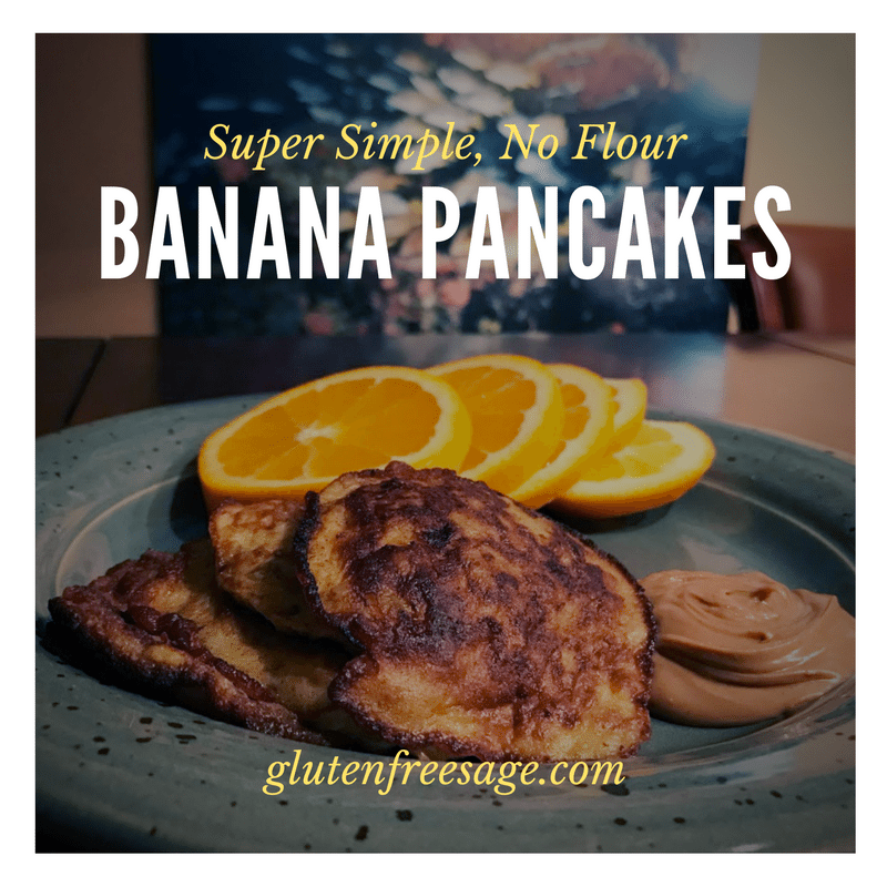 no flour banana pancakes gluten free recipe breakfast