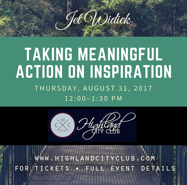 jet widick author events highland city club boulder august 2017 meaningful action on inspiration