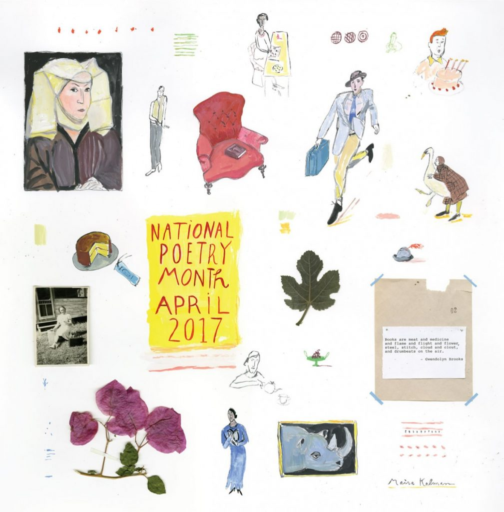 maira kalman illustration national poetry month 2017 poster