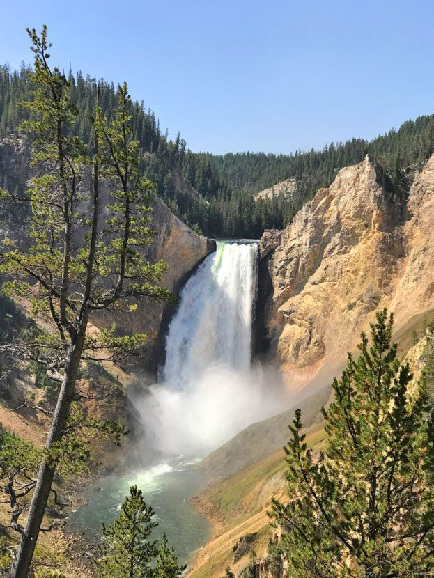 how the west won my heart upper yellowstone falls