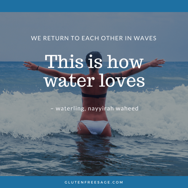 easy new year's resolution this is how water loves quote nayyirah waheed