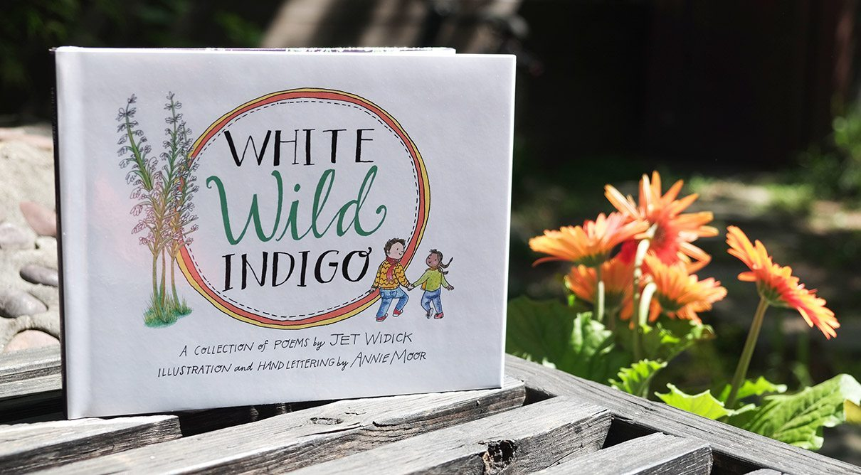 goodreads giveaway white wild indigo illustrated poetry book jet widick