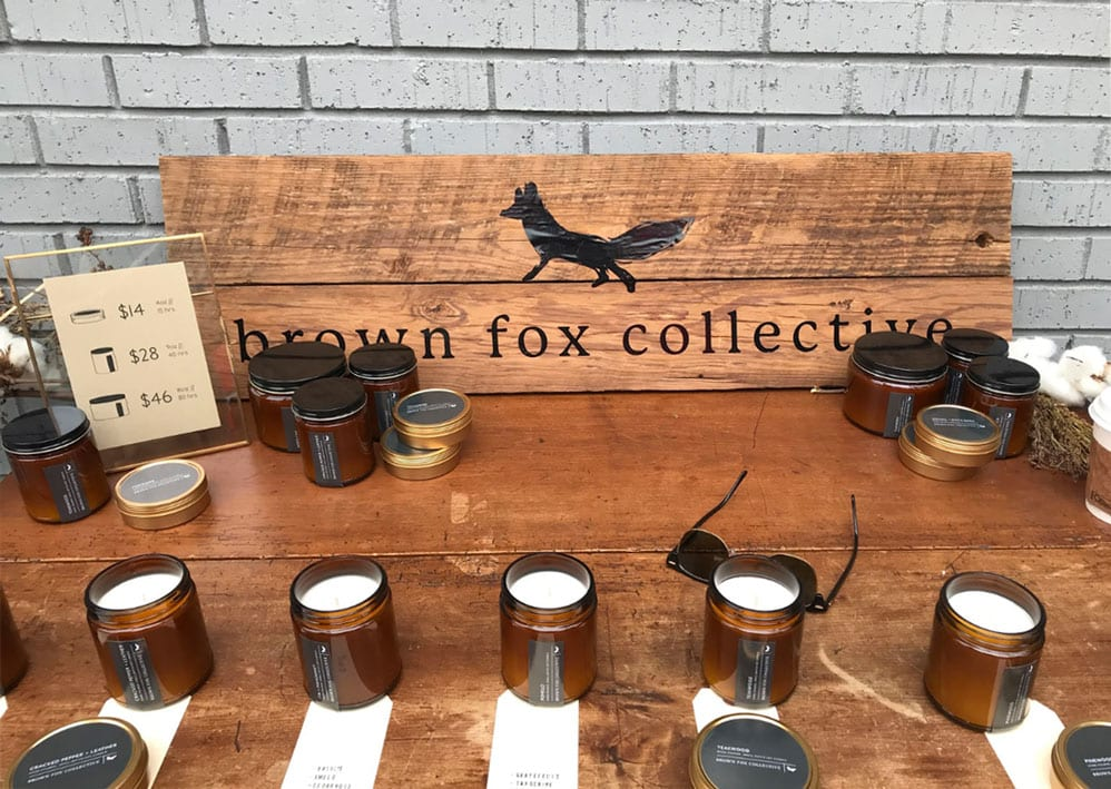 brown fox collective shops at porter east first sunday event