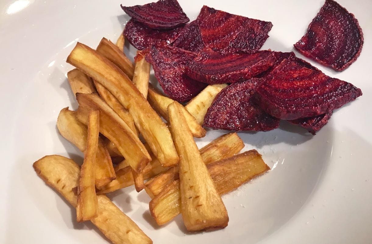 start fresh gluten free parsnip fries and fried beets